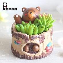 Roogo декоративный цветочный горшок кастрюли маленький для суккулентов