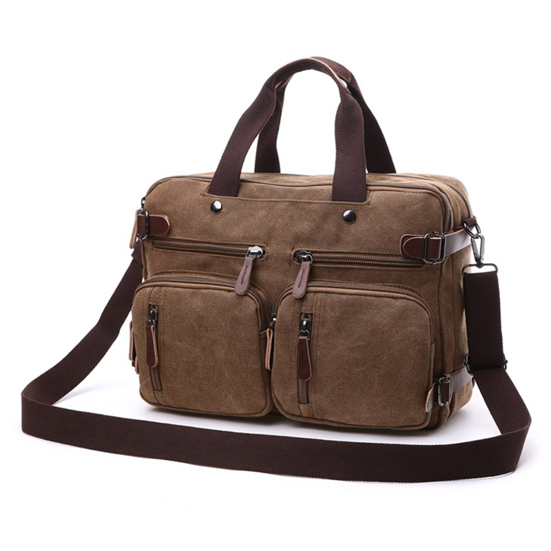 Hommes sacs à main ordinateur portable sacs à bandoulière hommes Messenger sac toile grande capacité Bolsa Masculina Vintage sacs de voyage femmes - 2