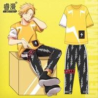 Anime Kaminari Denki T Shirt Short Sleeved Pants Unisex Summer Wear Lillte Hero Animation Around Fashion Clothes Cosplay Costume