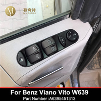 Master electric Power Window Control Switch for Mercedes Benz Viano Vito W639 A6395451313 ABS Car Black Window lock button