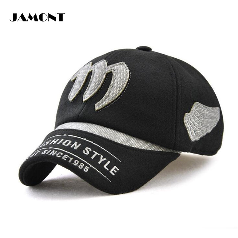8253364d98a 2019 JAMONT Adjustable Winter Golf Cap Embroidery Cotton With Short ...