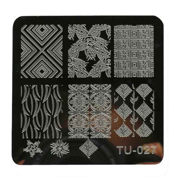 6 6cm polishing nail templates DIY Nail Art Image Stamp Stamping Plates Manicure Template P30 F35 HW in Nail Art Templates from Beauty Health