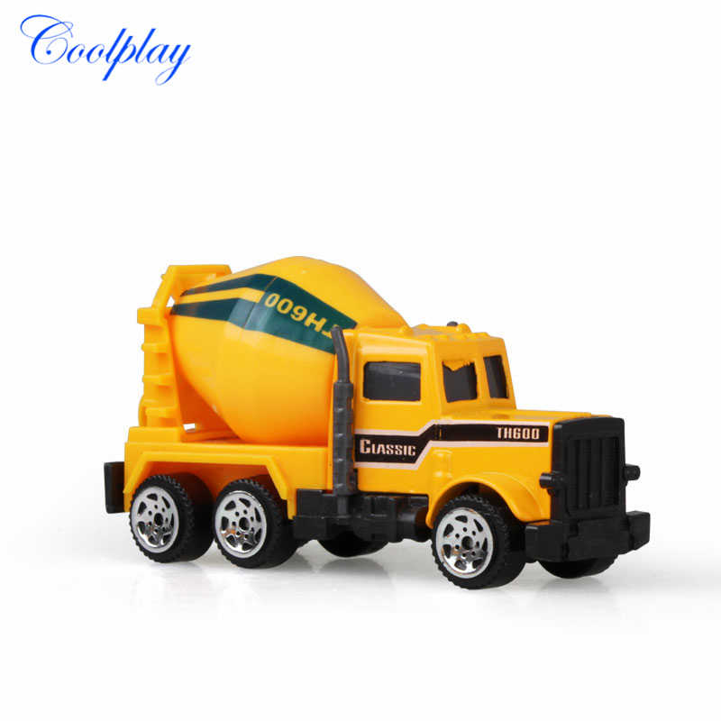 Coolplay Mini Alloy Diecast Car Model Engineering Toy Vehicles Dump Truck Forklift Excavator Model Car Mini Gift For Kids Boys }