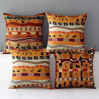 Cotton And Linen Pillow Coat Car And Home Cushion Cover Wind African Amorous Feelings Of National
