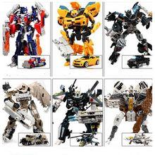 12 Estilo Original Caja de transformación 4 Optimus Pe Bumblebee Robots Figuras Regalos de Juguetes de Coches Para Niños Juguetes Brinquedos Anime