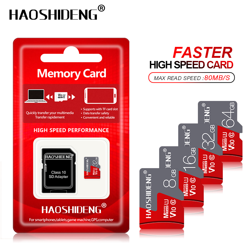 New Memory Card Micro SD Card 64GB 128GB 256GB MicroSD EVO SDXC U3 Flash Card 32gb 16gb Micro Sd U1 SDHC C10 Tf Card