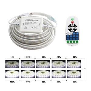 Image 3 - LED Strip Light 220v with RF Remote Control Dimmable Ribbon 2835 SMD IP67 Waterproof Ledstrip 220 v Diode Tape Led Bande JQ