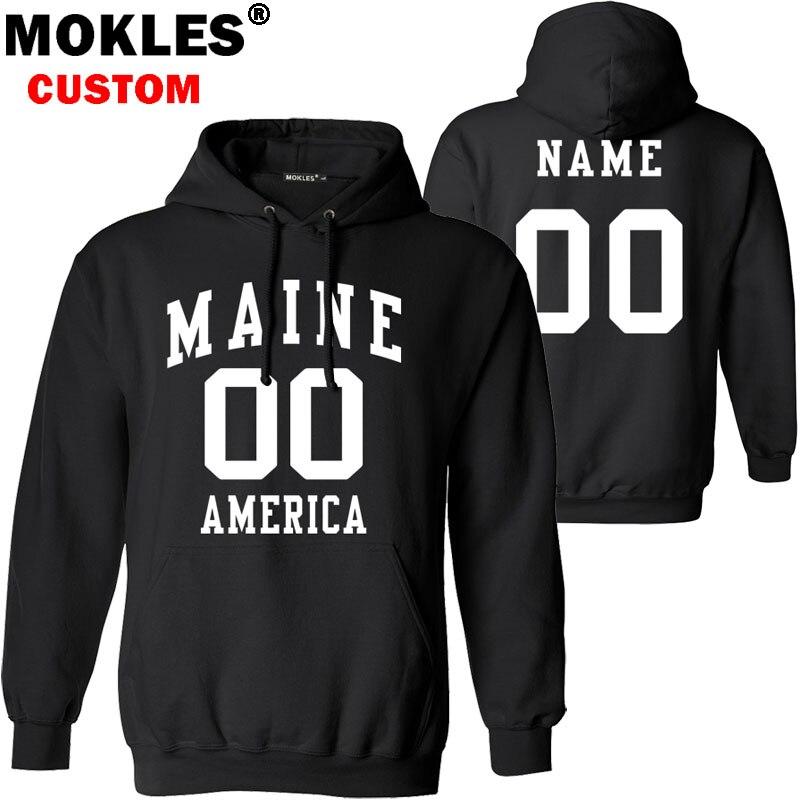 Мейн пуловер число Бесплатный пользовательское имя нас зима мне Джерси согреться Портленд Бангор Преск-Айл Флаг Америки Augusta 0 одежда ...