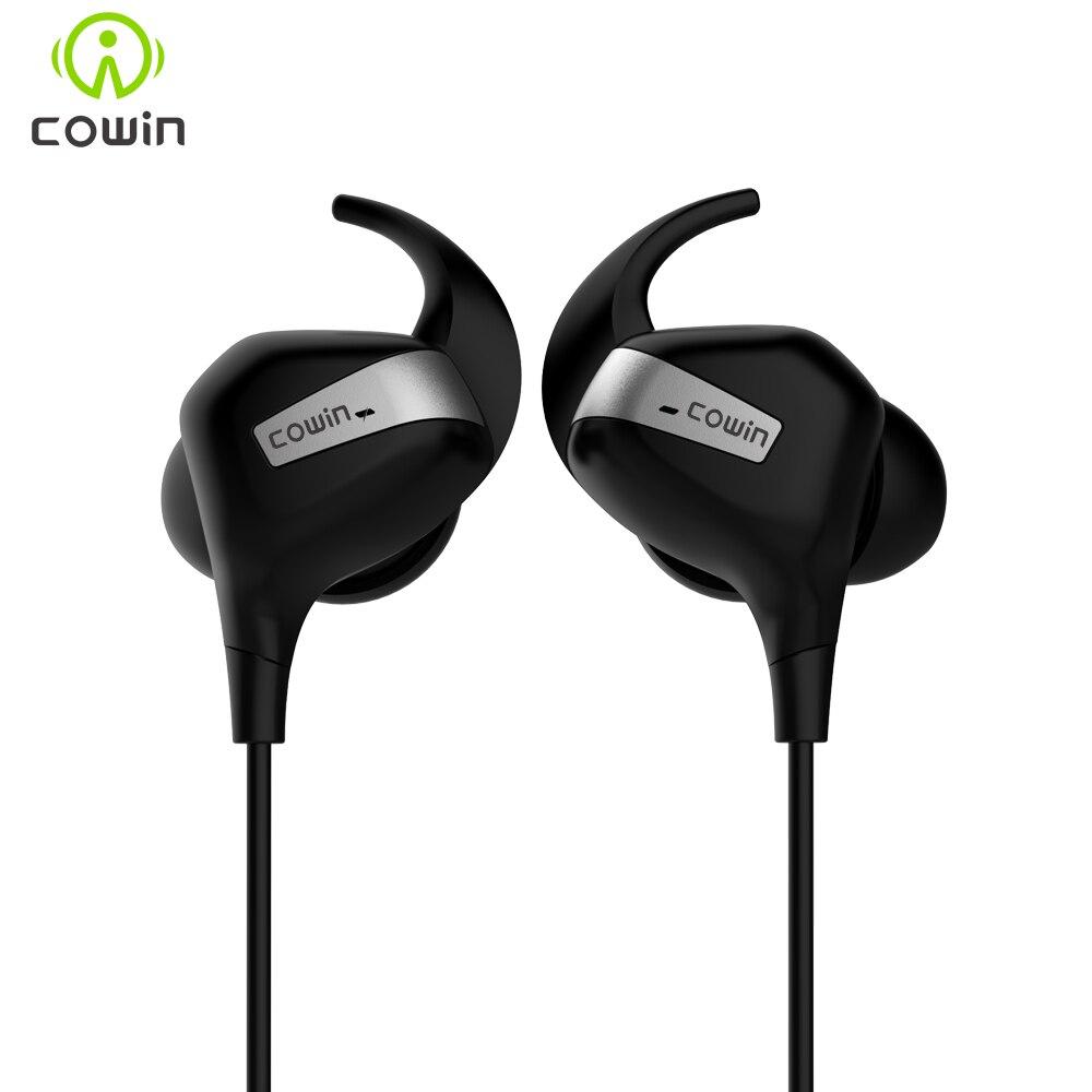 2018 NOVA COWIN HE8M APT-X Active Noise Cancelling Sem Fio Bluetooth Esportes Fone de ouvido Fones de Ouvido OTG carregamento haadset À Prova D' Água