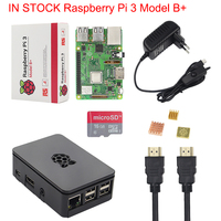 IN STOCK New Raspberry Pi 3 Model B + Kit + Case + 16 32 G SD Card + 3A Power Adapter + HDMI Cable + Heat Sink RPI 3 B Plus