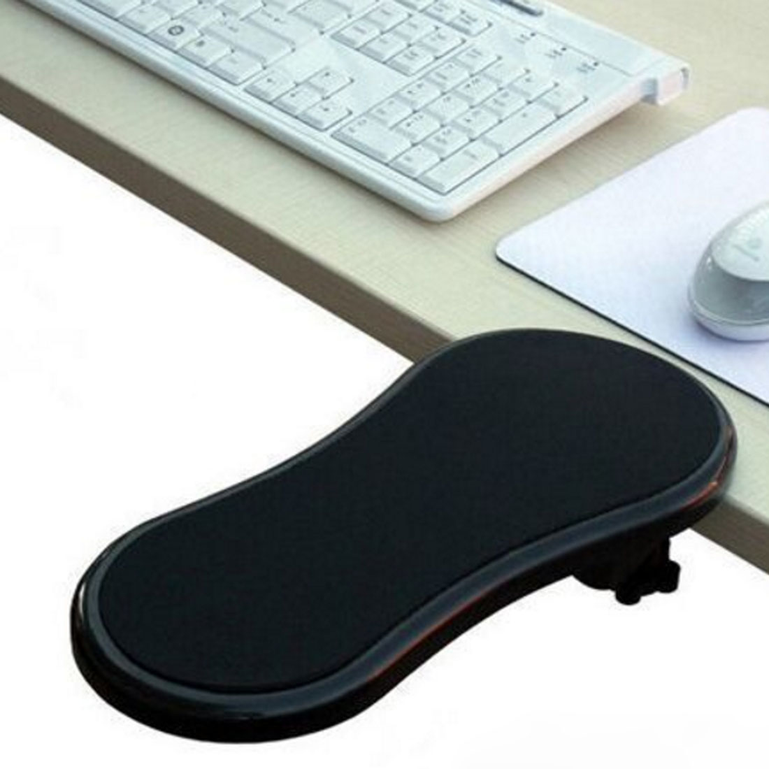 Desk Attachable Computer Table Arm Support Mouse Pads Hand