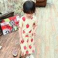 Verão do bebê meninas Sets morango manga curta T - shirt + impresso saia crianças casuais 2 peças se adapte roupas infantis roupas de bebe