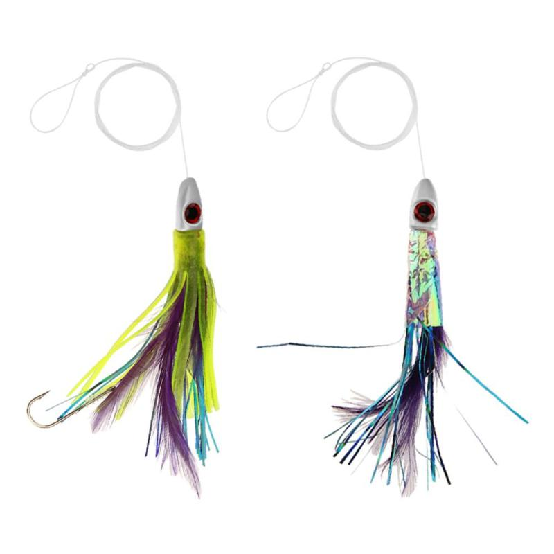 1pc Feather Skirt Squid Octopus Fishing Lure Plastic Soft Bait Artificial Bait with Fishing Line+ Barbed Hook Fake Fishing Lure trulinoya ray frog style soft plastic fishing lure bait green