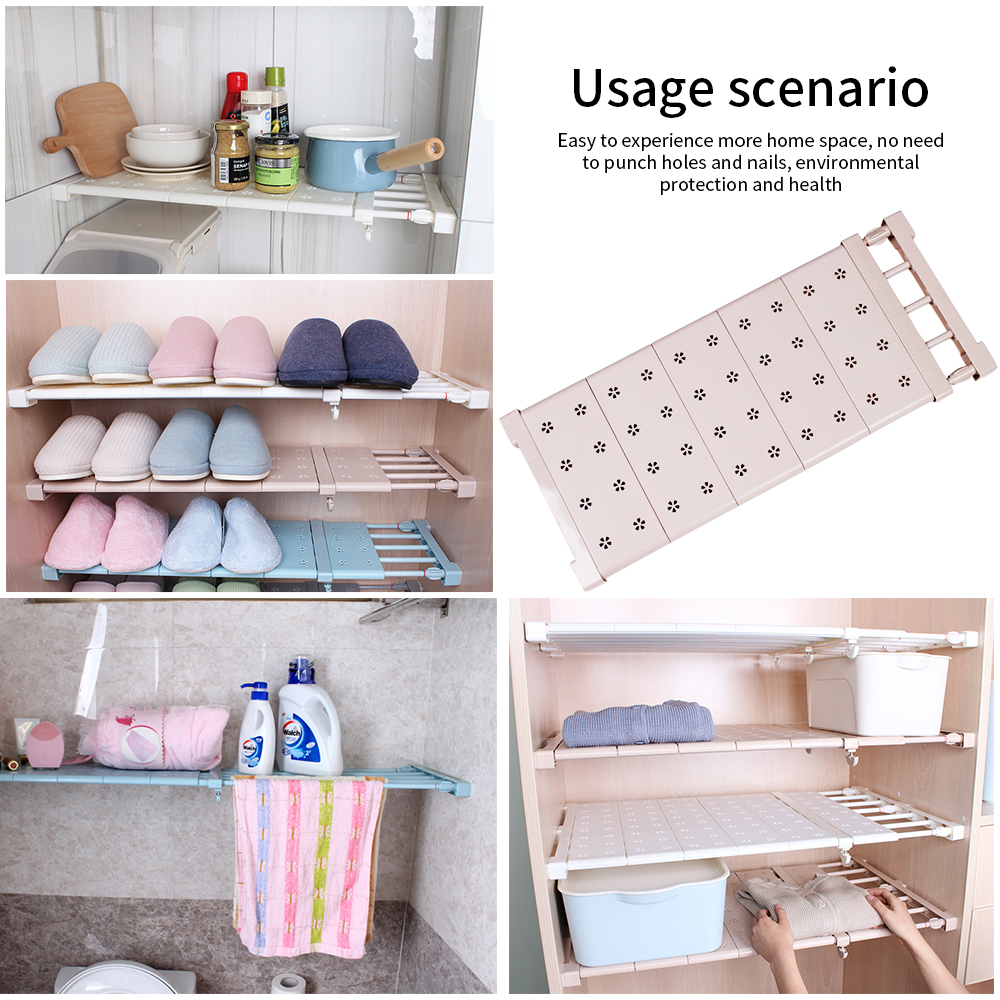 Us 16 55 8 Off Wall Mounted Rack Layered Separator Adjustable Layered Shelves Wardrobe Storage Kitchen Bathroom Compartment Shelves Organizer In