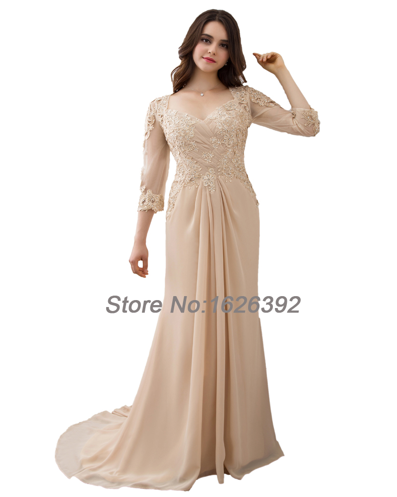free shipping cheap evening dresses plus size robe de soiree 3 4 sleeves formal gala prom mother. Black Bedroom Furniture Sets. Home Design Ideas