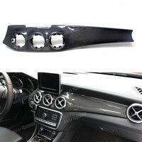 Для Mercedes GLA CLA углерода тире Панель обнов центральной консоли отделки приборной панели CLA45 AMG углерода тире Панель Стайлинг Fit LHD На 2014