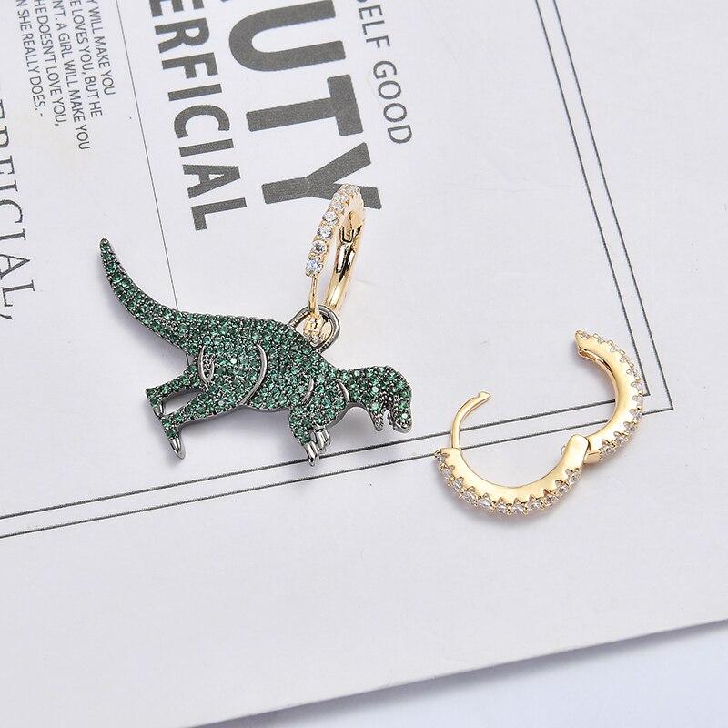 Cute Dinosaur New Fashion Simple Metal Drop Earrings For Women Lovers Ear jewelry Gift Accessories Dangle 8