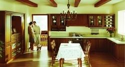 Деревянные Высокие кухонные шкафы для хранения (LH-SW054)