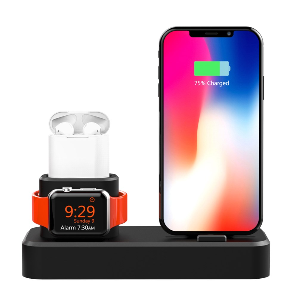 first rate c819b ac00a SZYSGSD Desktop Charging Dock Station For iPhone 6 6S 7 8 X For Airpods 3  In 1 Charging Dock Holder For Apple Watch Series 4 3 2
