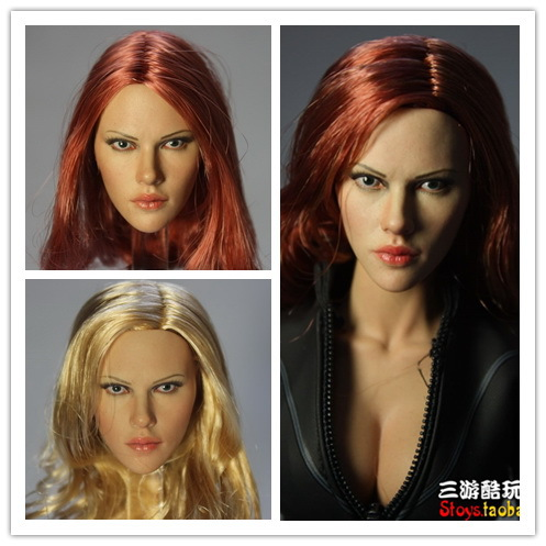 ФОТО 1/6 Black Widow Scarlett Johansson headsculpt Three styles of hairstyle12inch doll accessories Body and clothes are not included