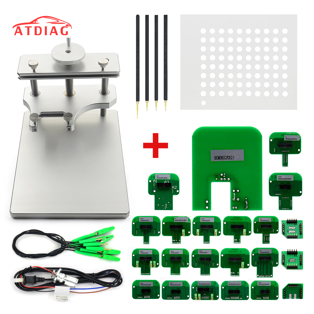 Newest ECU Board Bracket LED BDM Frame With 4 Probe Pen ECU Modified For KESS V2 KTAG FGTECH Auto ECU Chip Tuning Tool Free Ship-in Car Diagnostic Cables & Connectors from Automobiles & Motorcycles