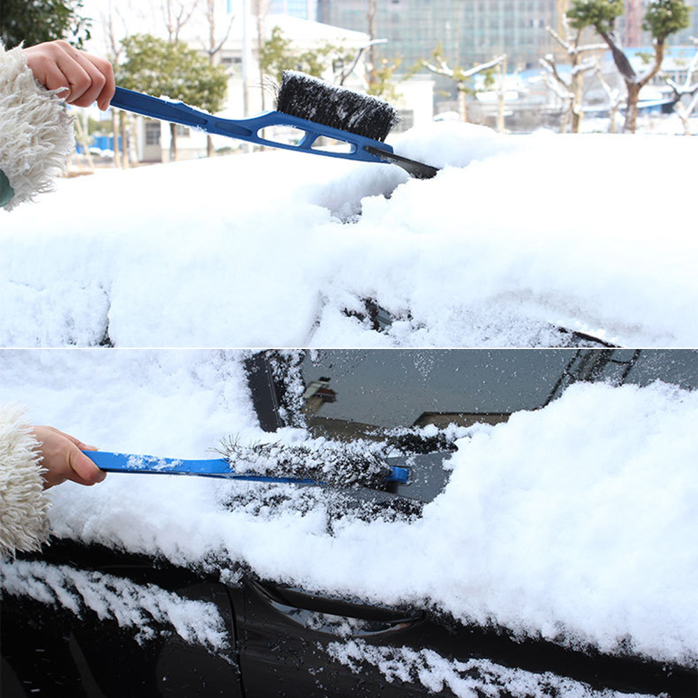 Auto 2 in 1 Snow Shovel Brush and Ice Scraper Car Windshield Front Hood Ice Remove Multifunction Clean Tool ABS With EVA Handle