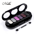 M.n menow 2017 New Arrival Fashion 6 Colors Double-deck Natural Luminous Glitter Eye Beauty Makeup Eyeshadow Kits With Brush