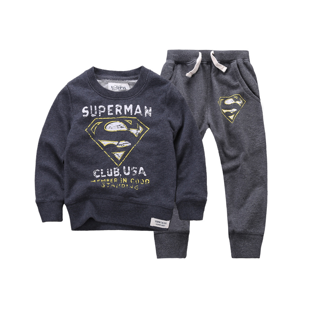 2015 New Autumn Winter Clothing Sets Baby Boys Girls Kid SportsWear Tracksuit Outfit Smiling Face Unisex Suit Children Sets 2015 new autumn winter warm boys girls suit children s sets baby boys hooded clothing set girl kids sets sweatshirts and pant