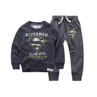 2015 New Autumn Winter Clothing Sets Baby Boys Girls Kid SportsWear Tracksuit Outfit Smiling Face Unisex