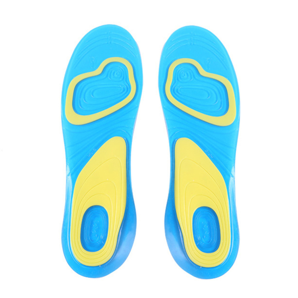1 Pair Silicone Anti-Slip Gel Soft Sport Insole Cushion Pad Orthotic Arch Support Massaging Shoes Pads Foot Care for Man Women myley gel shock absorption breathable hot sell soft sport insole orthotic arch support anti slip insoles pad for men and women