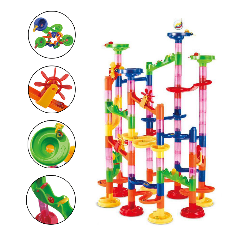 105PCS DIY Construction Marble Race Run Maze Ball Building Blocks Ball Circuit Toys 3 Years Educational Child Pipe Game For Kids105PCS DIY Construction Marble Race Run Maze Ball Building Blocks Ball Circuit Toys 3 Years Educational Child Pipe Game For Kids