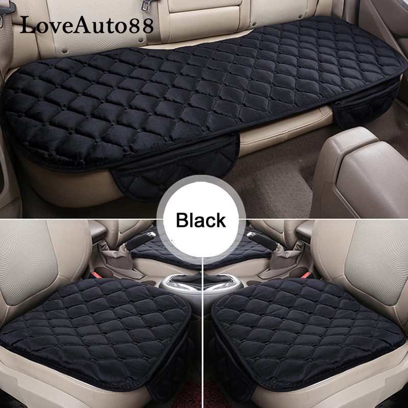 For Toyota C HR RAV4 Camry Corolla Car Seat Cushion Winter Warm Seat Pads Protector pads Seat Covers 3pcs in Automobiles Seat Covers from Automobiles Motorcycles