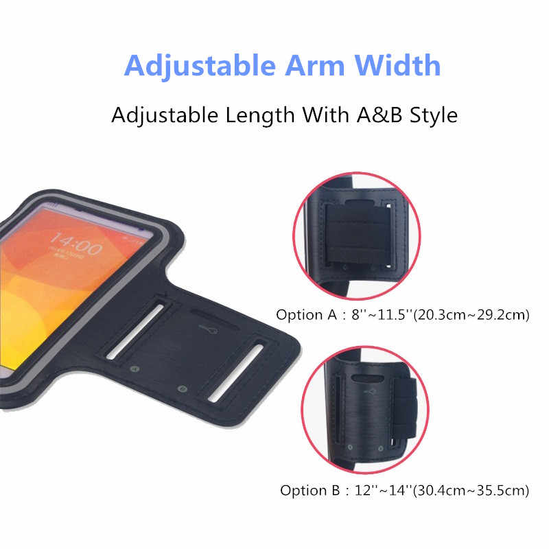 Waterproof Armband Running GYM sport phone bag case For BlackBerry Argon/KEY2/KEYone/Motion Arm Band Mobile cell phones Pouch