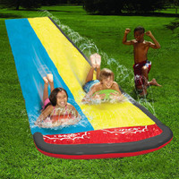 Outdoor Double Surfboard Water Slide Wave Rider Toy 4 8 Meters Park Water Spray Toys On