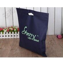 Venta al por mayor, 500 unids/lote, logotipo de impresión personalizada, bolsas de compras no tejidas reutilizables, bolsas de mano plegables eco, envío gratis