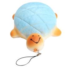 ABWE Legjobb eladó 1PC 13cm teknős teknős Jumbo medál Squishy puha Kawaii Bun telefon hevederek kötél