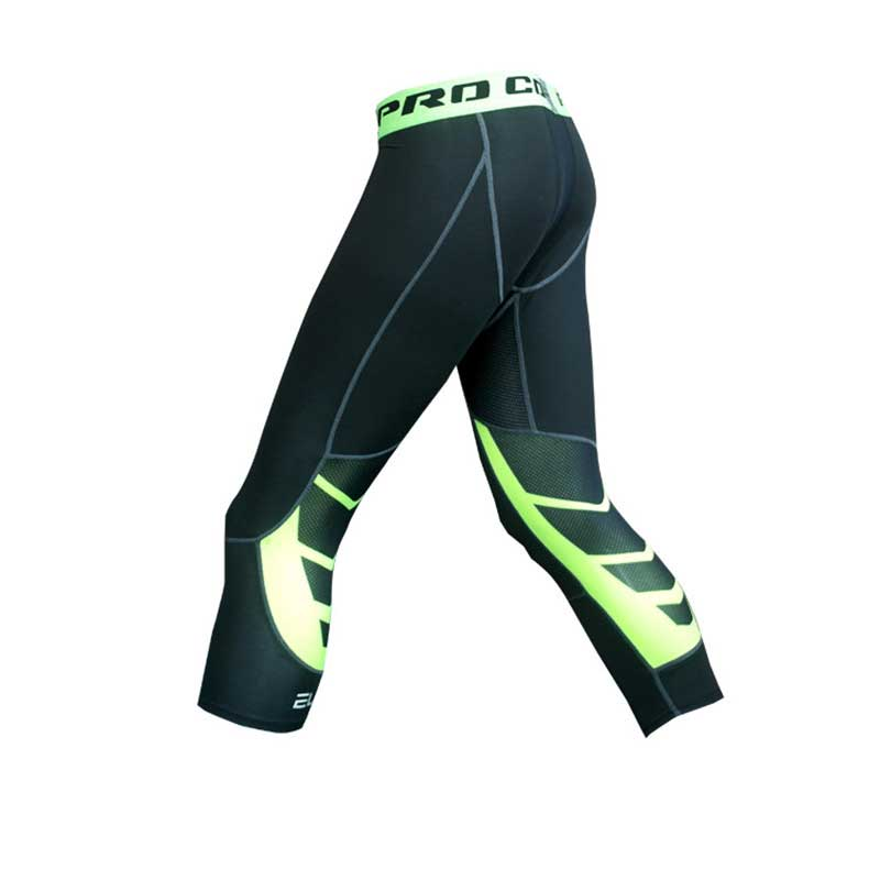 Men Compression Running Capri Tights Yoga Pants GYM Exercise Fitness Leggings Workout Basketball Exercise Train Sports Clothing