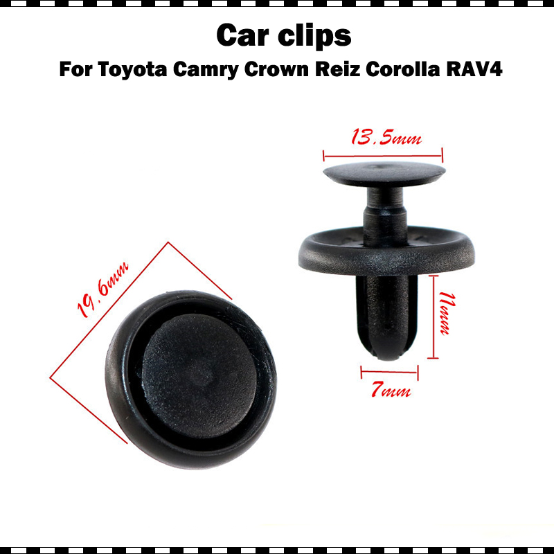 Nylon 10Pcs Push Bumper Retainer Clips For Camry RAV4 Lexus Scion xA xB xD tC
