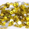 Citrine Glass 3D Nail Art Decorations ss3 ss4 ss5 ss6 ss8 ss10 ss12 ss16 ss20 ss30 ss34 Crystal Nails Non HotFix Rhinestones