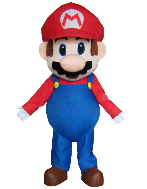 Adult Size Super Mario Mascot Costume Fancy Dress Lovely Brothers Suit for Halloween party event