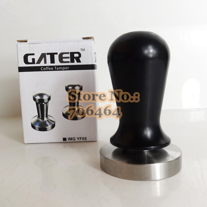 Fashion Style Free Shipping 30lbs Pressurecoffee Tamper,excellent Quality And Competitive Price,stainless Steel Base&aluminum Handle