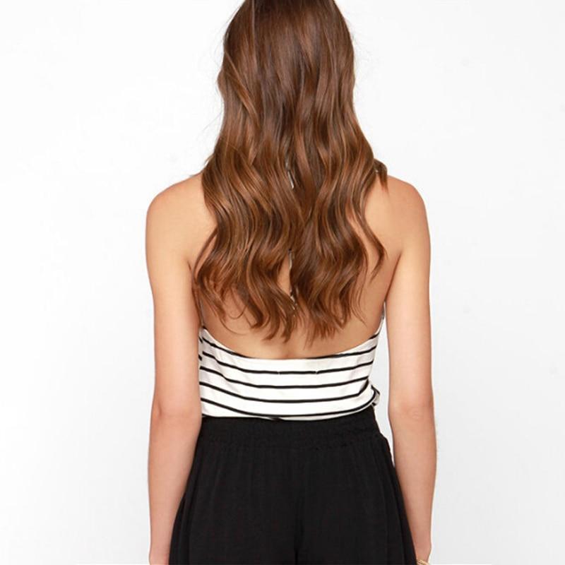 Cora Wang Sexy Sleeveless Striped T Shirt Women Tops Tee Intersect T-Shirt Female Summer Beach Casual Camis Tshirt Blusas