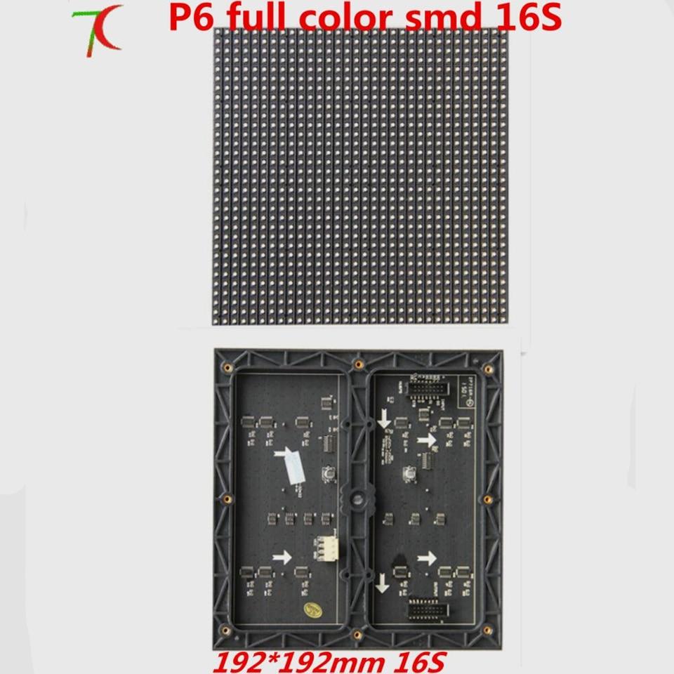 P6 Indoor 16scan SMD Full Color Module 192mm*192mm 32*32 Pixels 27777dots/m2