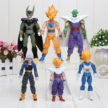 6 pièces/ensemble Anime Dragon Ball Z Joint mobile végéta Piccolo Son Gohan fils Goku troncs végétto cellule PVC figurine jouets 13-15cm(China)