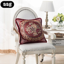 цена AAG Luxury Embroidery Flower Throw Pillowcase  Pillow Cover Square Home Couch Bed Waist Back Sleep Pillow Case Cover Home Items онлайн в 2017 году