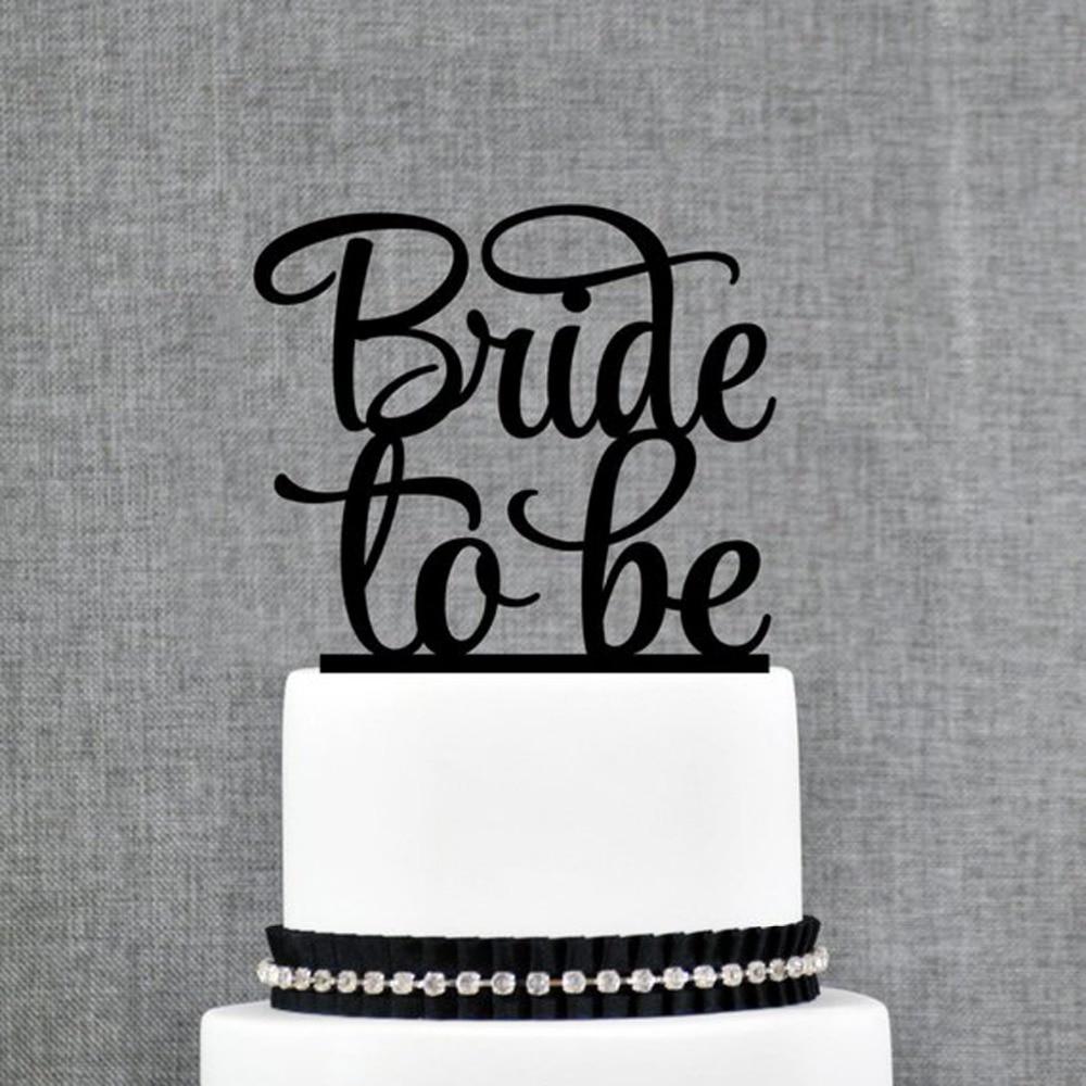 Bride to be Wedding Cake Topper,Bride Shower wedding Engagement Cake Topper,Bridal Shower single Cake topper