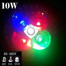 Полный спектр 10 Вт e27, E14, Gu10 из светодиодов светать для рассады рост цветения фрукты, Гидропоники системы, Расти палатку