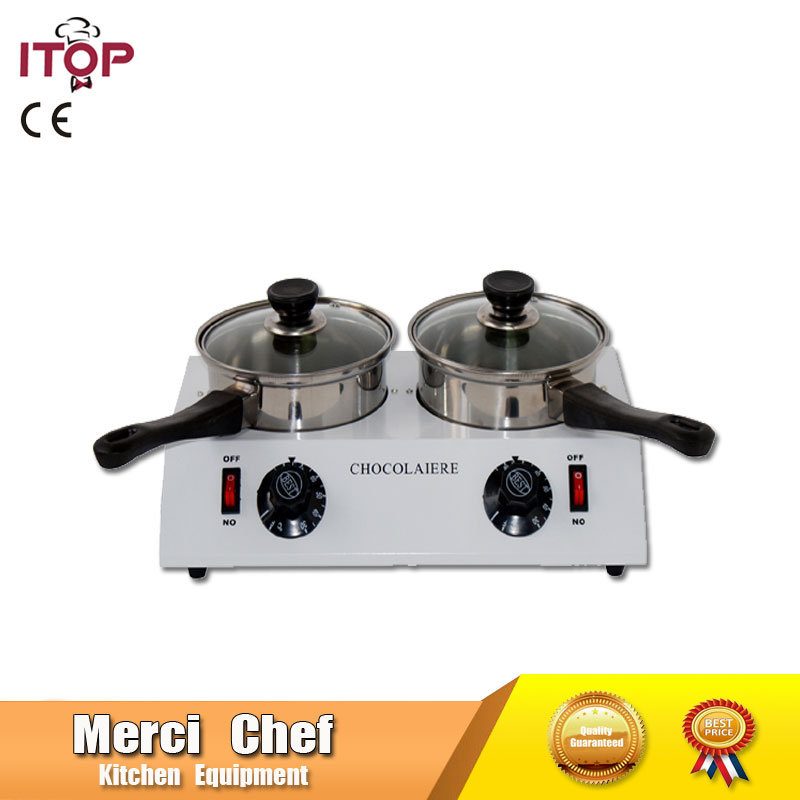 New Arrival Food Processor Chocolate melting machine Chocolate melting pot 2 pots Free Shipping To Some Country wavelets processor