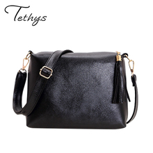 2016 Famous Brand Women's Bag Soft Pu Leather Fringe Crossbody Bag Women Messenger Bags Ladies Candy Color Shoulder Bags Female