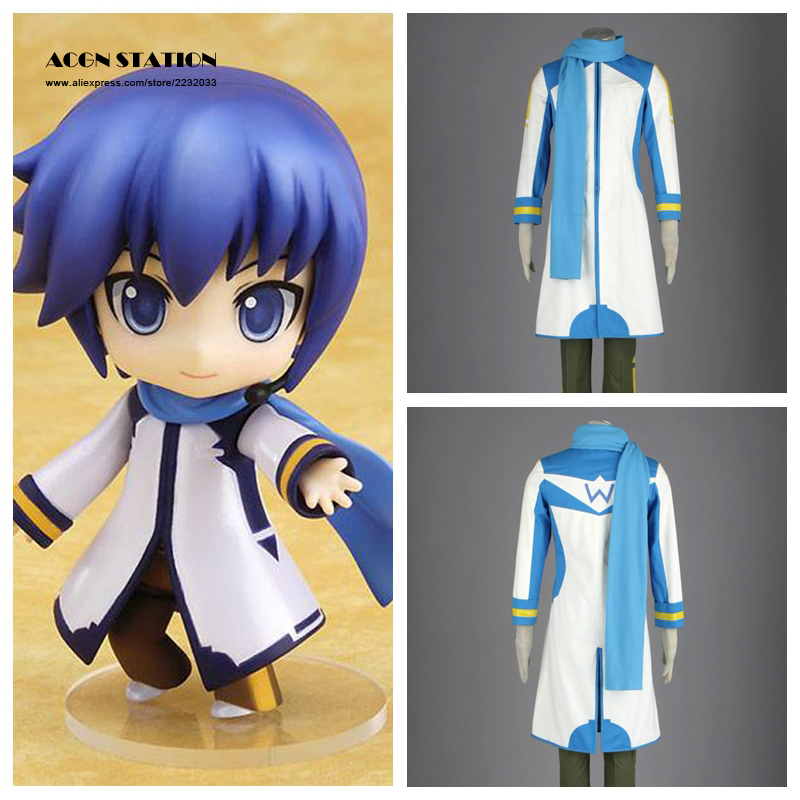 2018 Free Shipping Hatsune Miku KAITO Vocaloid Adult Cosplay Costume Customize for plus size adults and kids